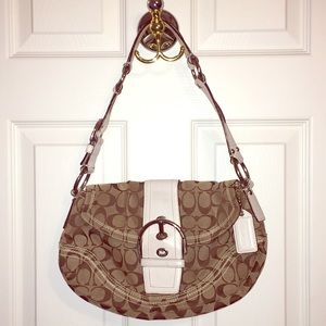 Coach leather and fabric purse